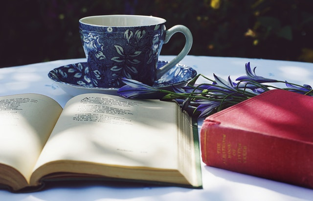Books - Flowers and Tea